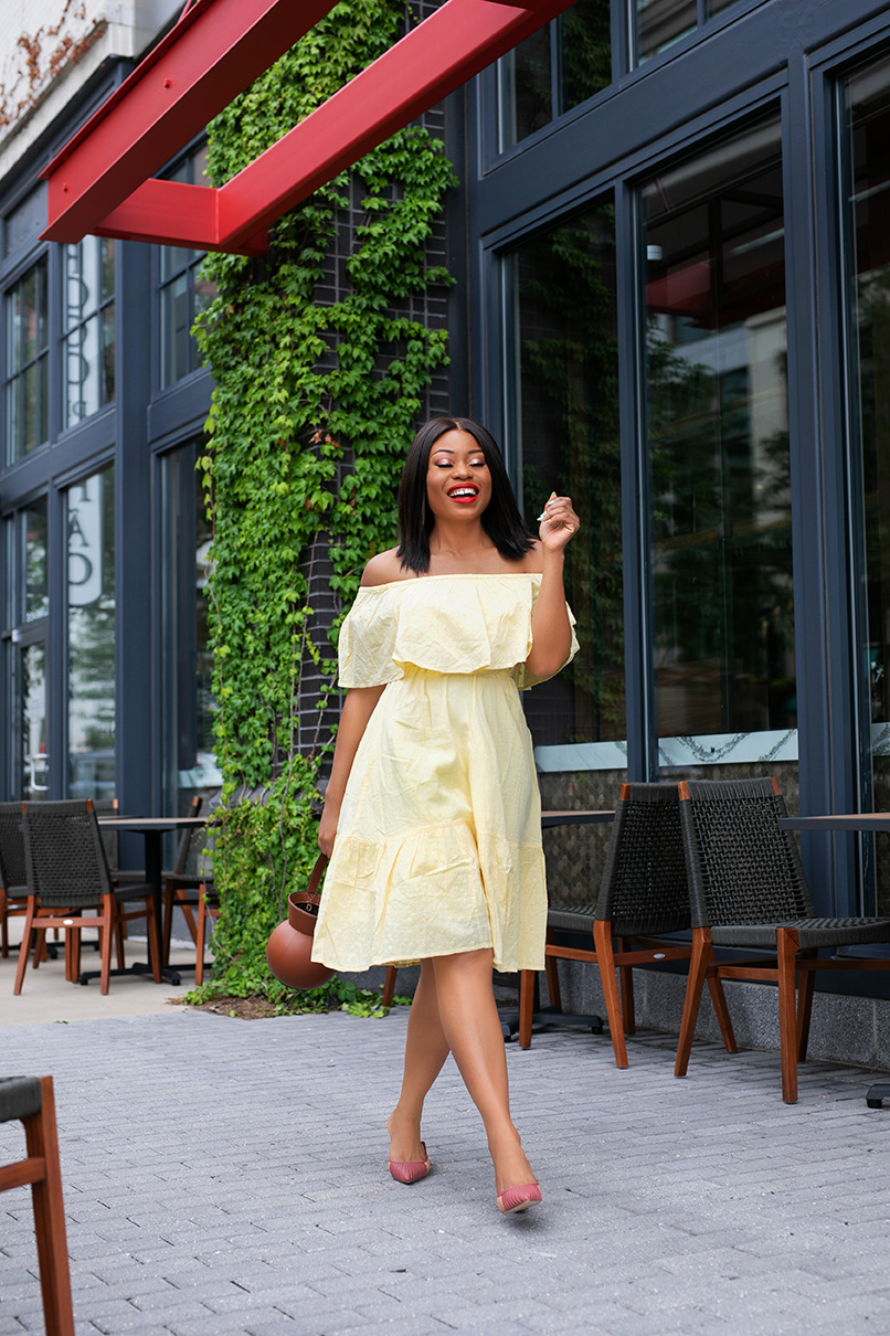 affordable off shoulder summer dress