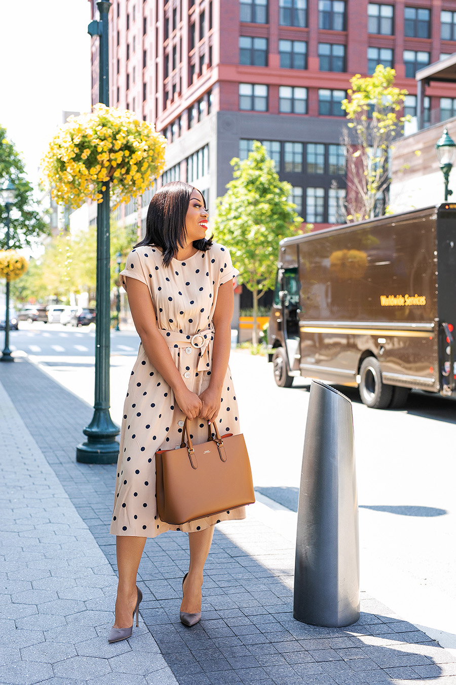 polka dot dress for work