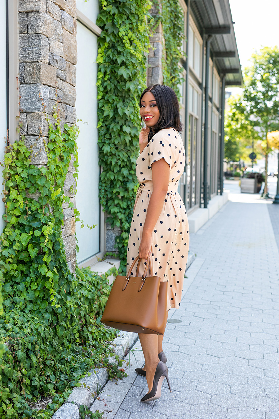 dotted dress for work