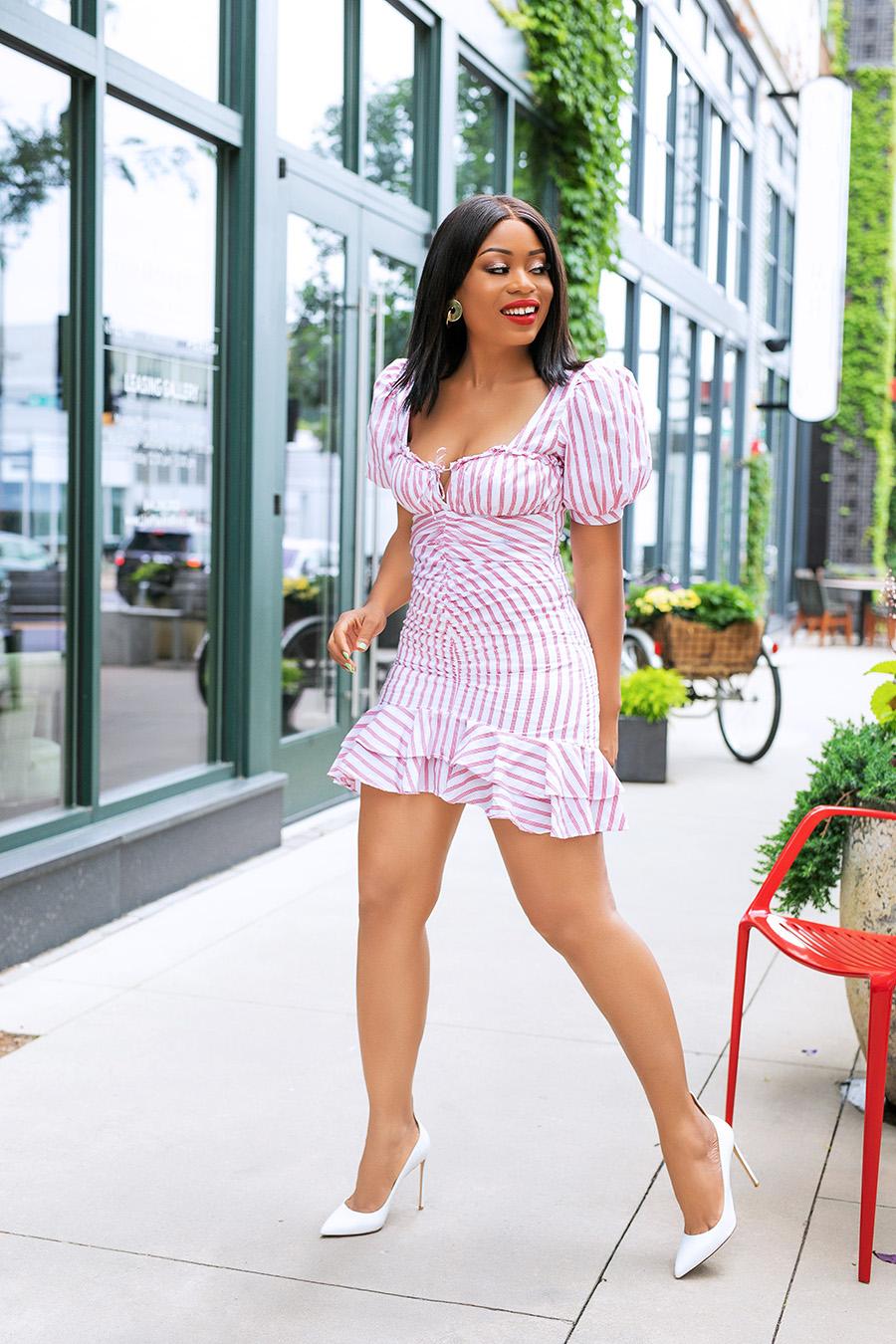 Not Yet Over Summer dress Puff Sleeve Ruffle Dress