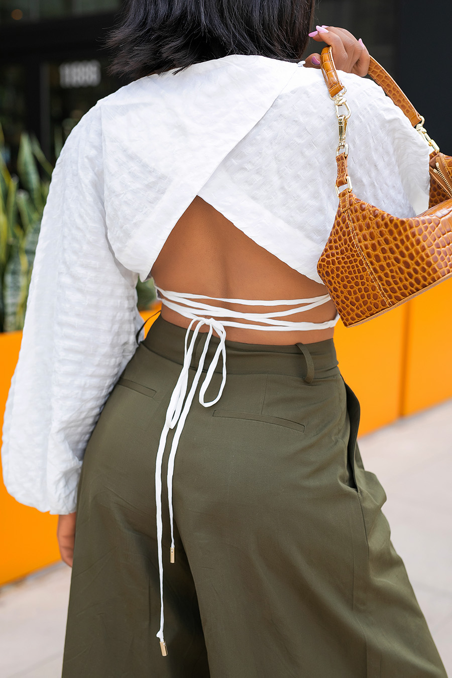 cult gaia crop top and retina pyo bag