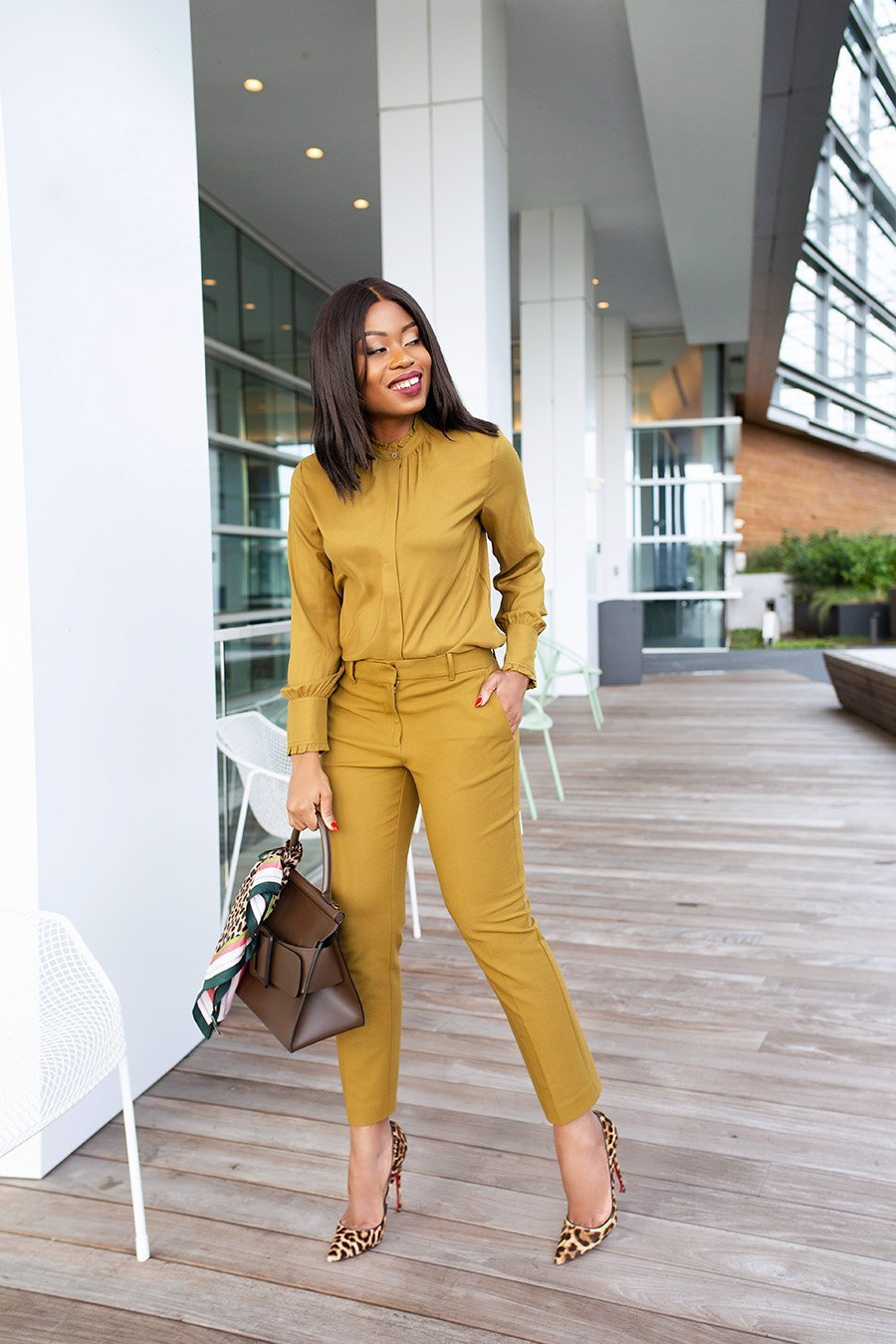 Stella Adewunmi shares monochromatic work style to wear to office today