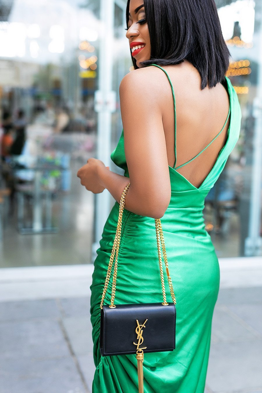 fashion-blogger-Stella-Adewunmi-of-Jadore-Fashion-in-green-slip-dress-for-the-holiday