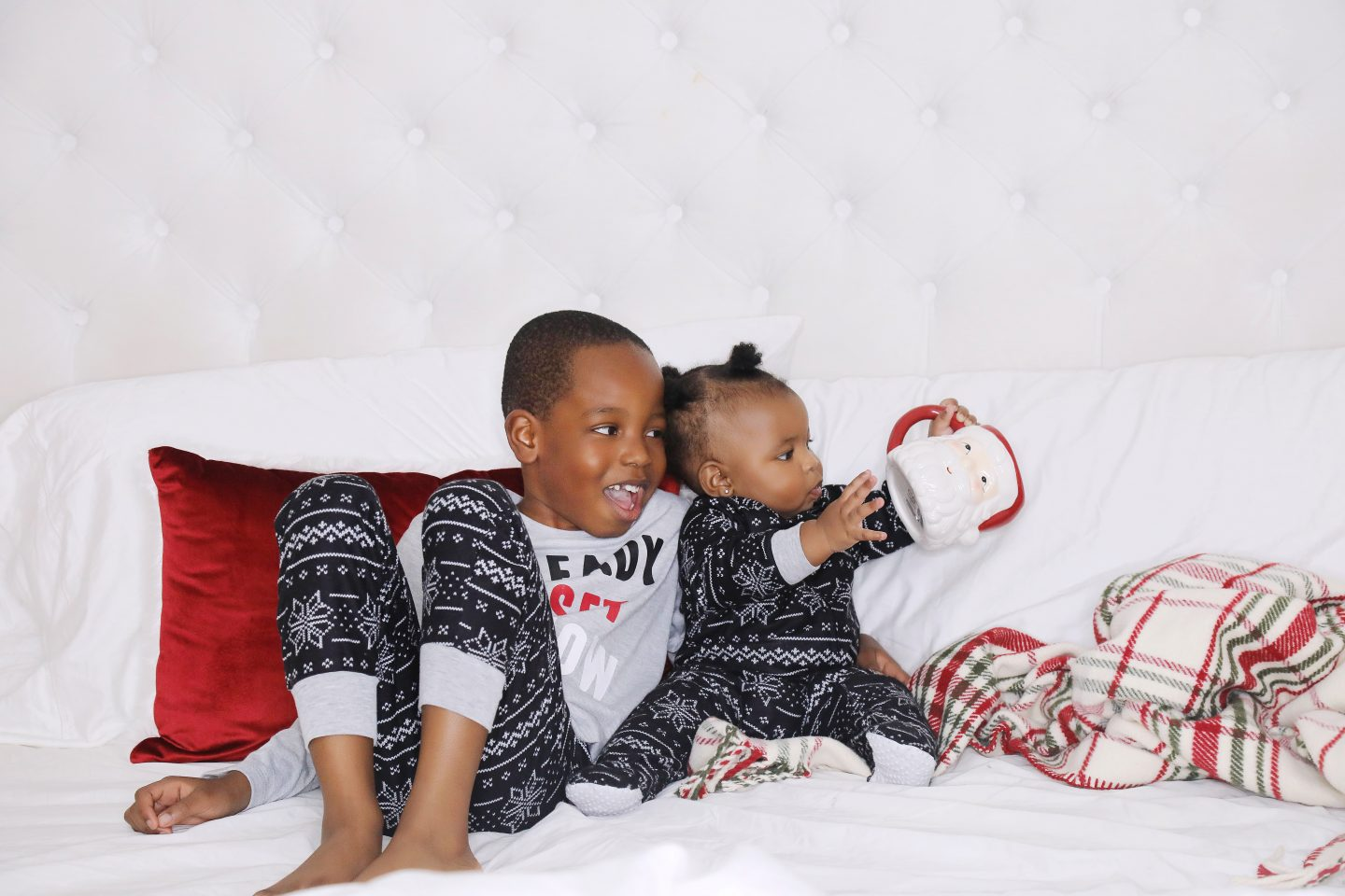 Stella-adewunmi-of-jadore-fashion-and-children-in-matching-kids-holiday-pjs
