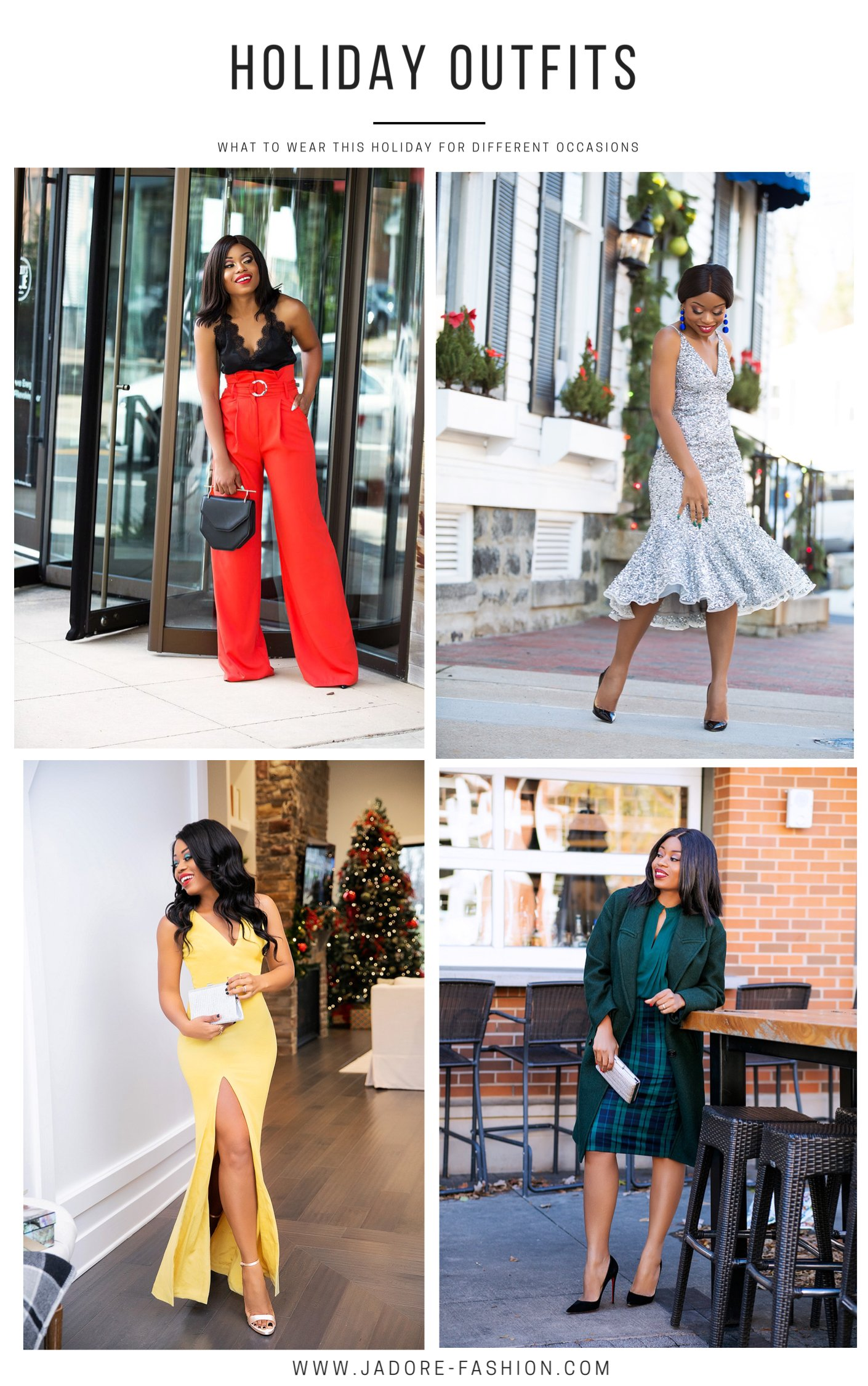 Stella Adewunmi shares different holiday outfits ideas