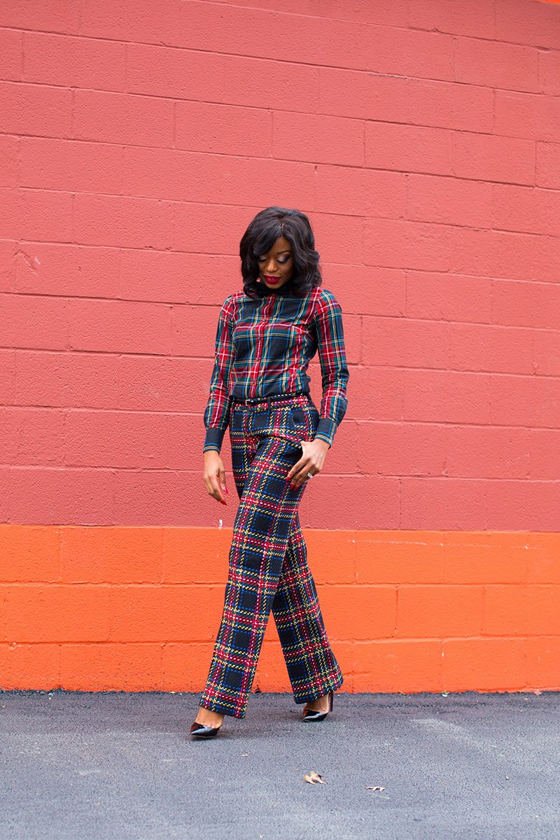 stella-adewunmi-share-how-to-wear-plaid-on-plaid-for-holiday-party