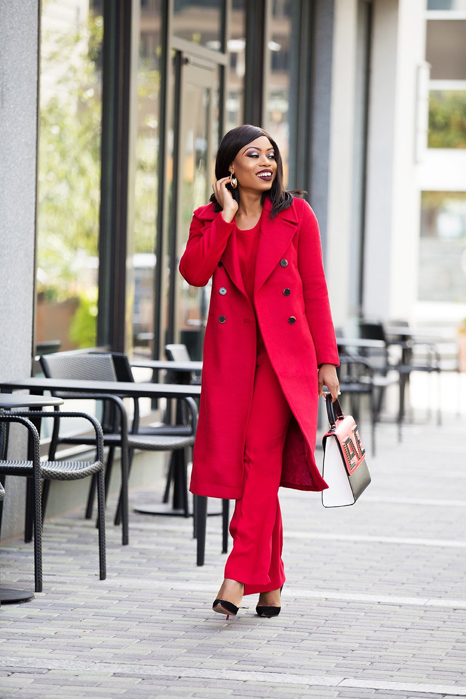 stella-adewunmi-in-monochromatic-red-outfit-holiday-work-party