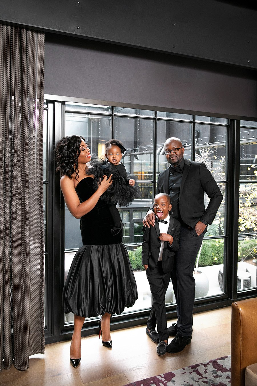 Stella Adewunmi of Jadore-Fashion shares new year with family at Sagamore Pendry