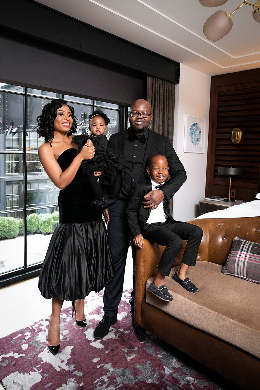 Stella Adewunmi shares new year goals with family