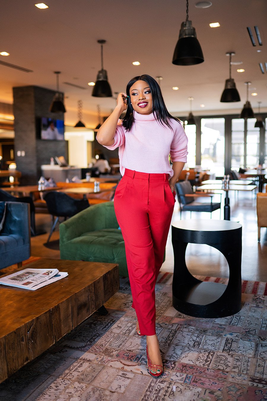 Stella-Adewunmi-of-Jadore-Fashion-shares-How-to-wear-pink-and-red-together