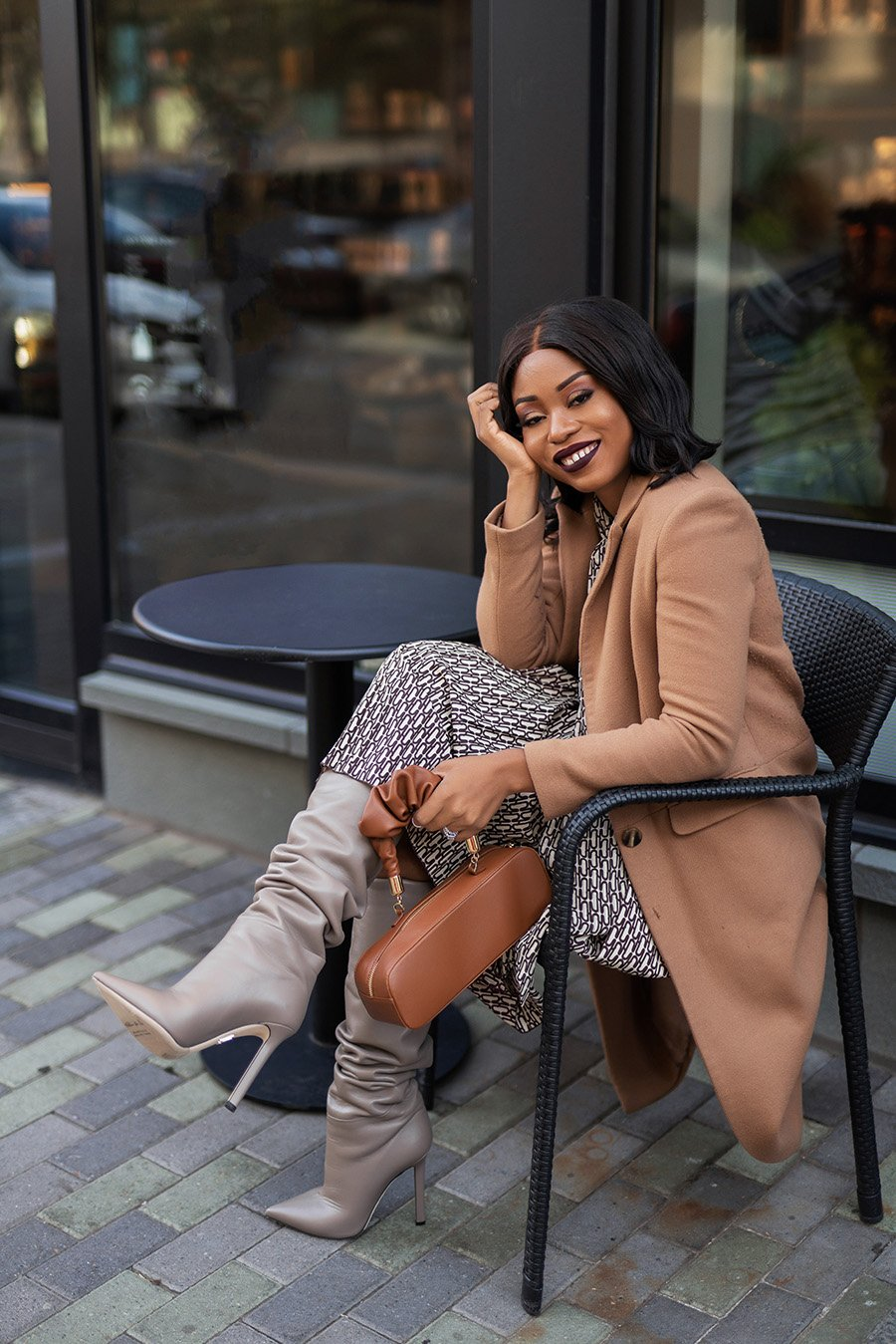 Stella-Adewunmi-of-jadore-fashion-shares-winter-work-dress-with-knee-high-boots