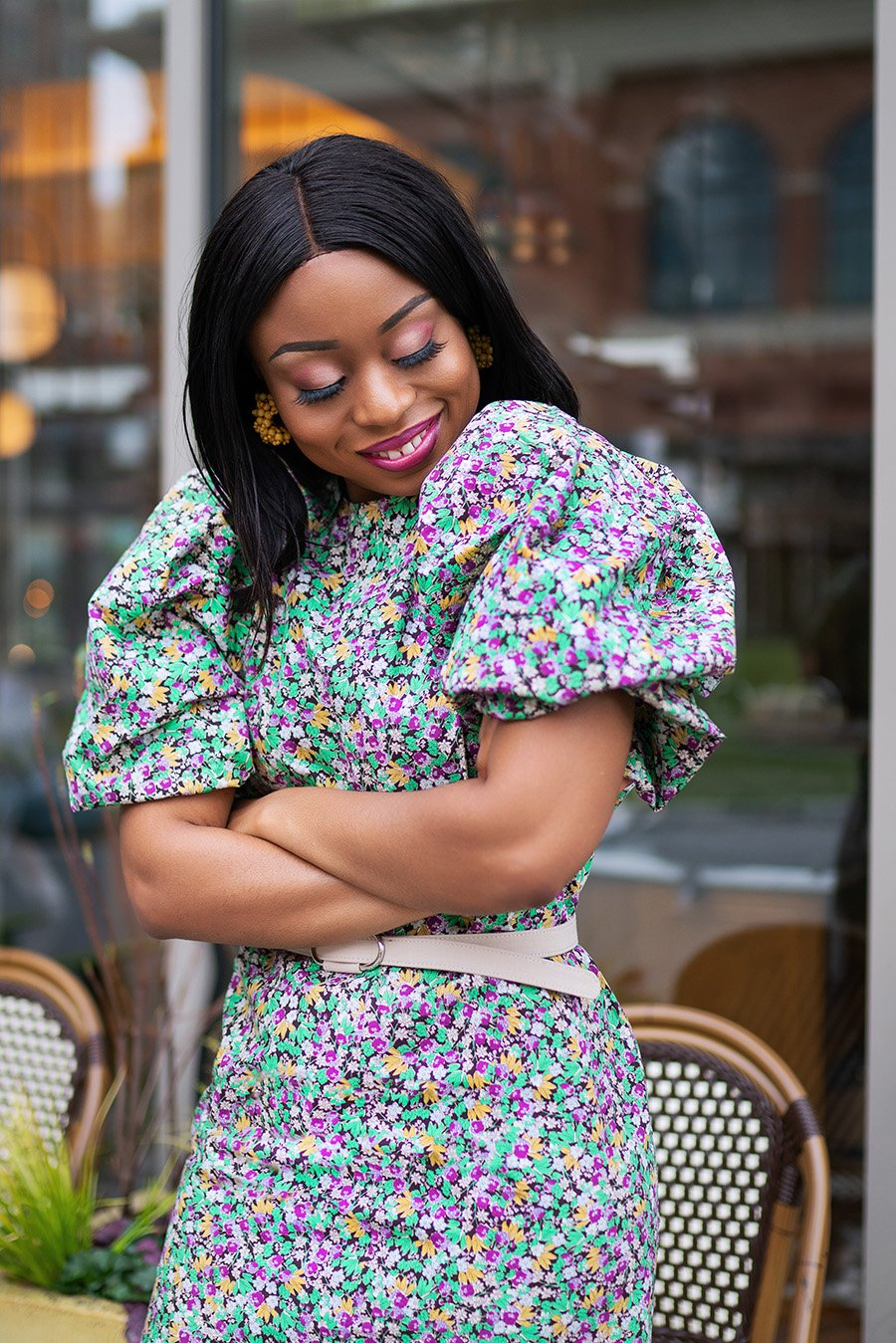 stella-adewunmi-of-jadore-fashion-blog-share-what-to-wear-this-easter-and-spring-puffy-sleeve-dress