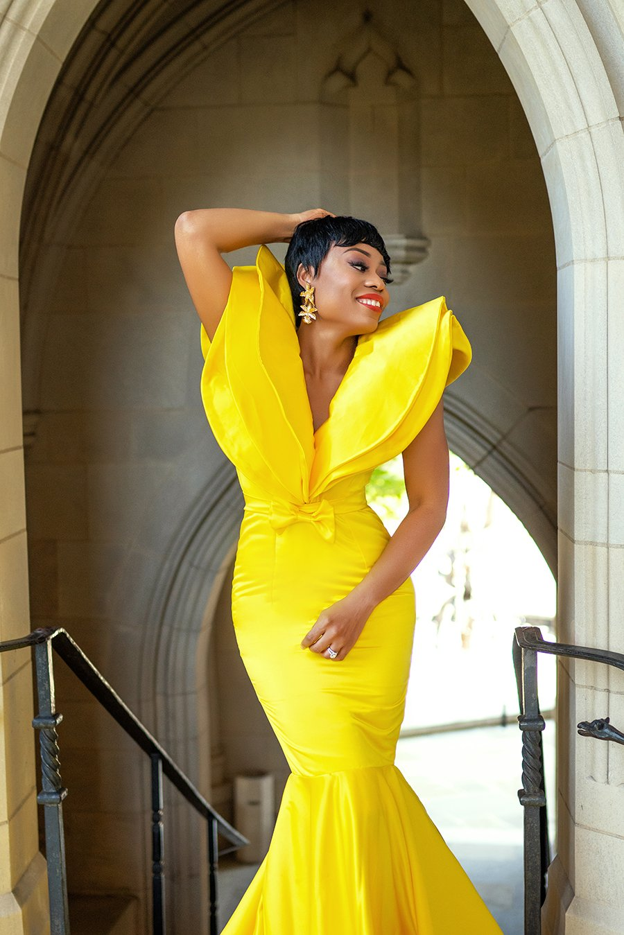 stella-adewunmi-of-jadore-fashion-blog-shares-yellow-ball-gown-celebrating-wedding