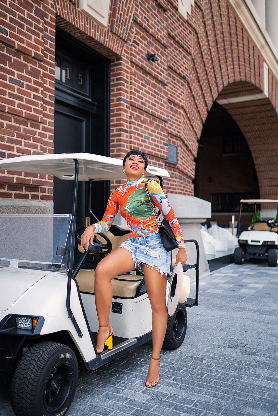 stella-adewunmi-of-jadore-fashion-blog-shares-summer-shorts-denim-shorts-kai-collective-balenciaga-shoes