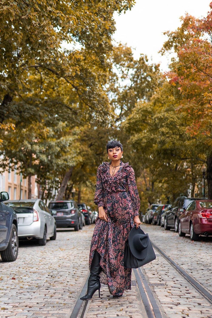 stella-adewunmi-of-jadore-fashion-blog-shares-mango-fall-print-dress