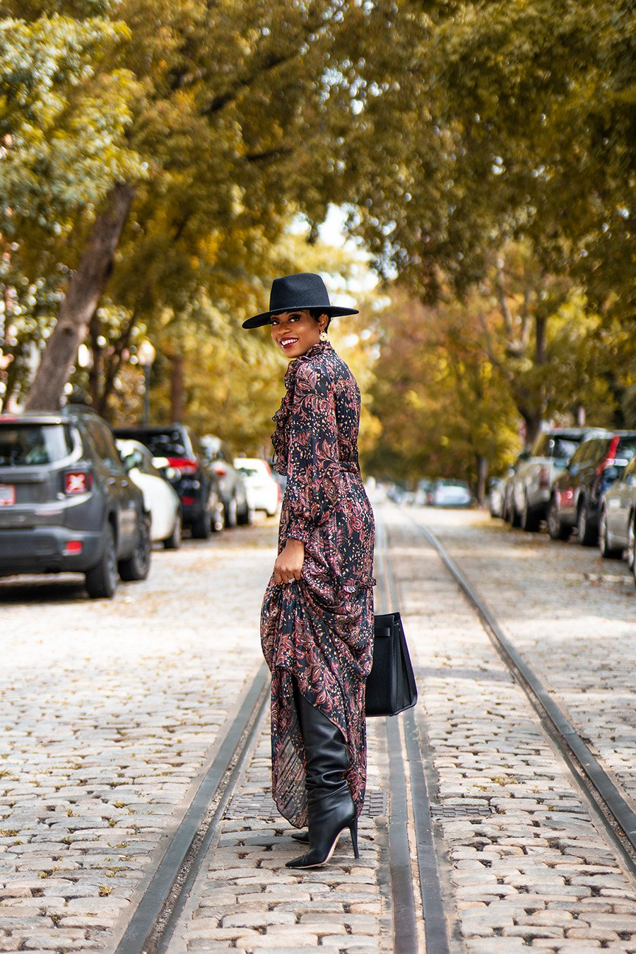 stella-adewunmi-of-jadore-fashion-blog-shares-how-to-style-fall-dress-knee-high-boots