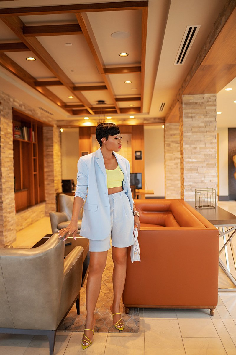 Stella-adewunmi-of-jadore-fashion-blog-how-to-style-suits-and-sets-for-summer-hm-blazer-shorts